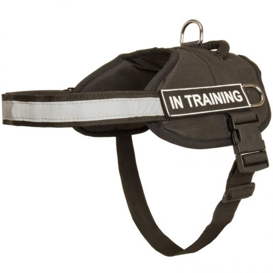 Nylon Collie Harness with Reflective Strap for Training, Walking, Police Service, SAR and More
