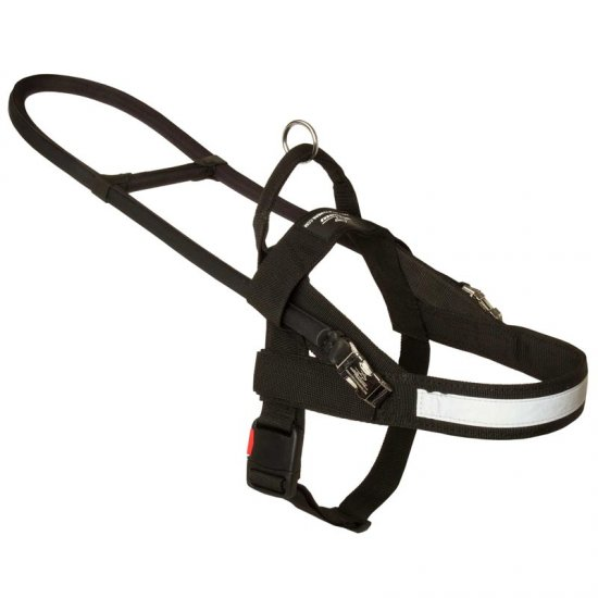 All Weather Nylon Collie Harness for Guide and Assistance
