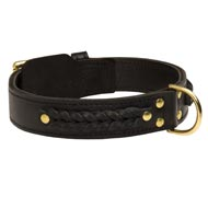 Incredible Design Collie Braided Leather Collar