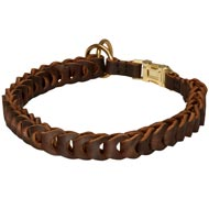 Collie Choke Leather Collar Braided