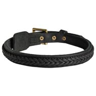 Collie Braided Leather Collar 1 Inch