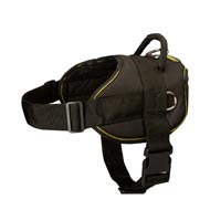All Weather Extra Strong Nylon Collie Harness for Tracking/Pulling