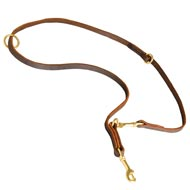 Multipurpose Leather Collie Leash for Training, Walking and Patrolling