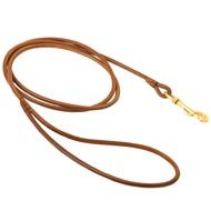 Round Leather Collie Leash for Dog Shows