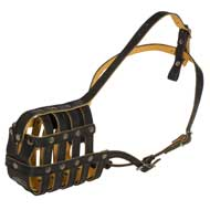 Royal Nappa Leather Basket Collie Muzzle