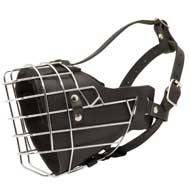 Leather Padded Wire Cage Collie Muzzle for Agitation Training