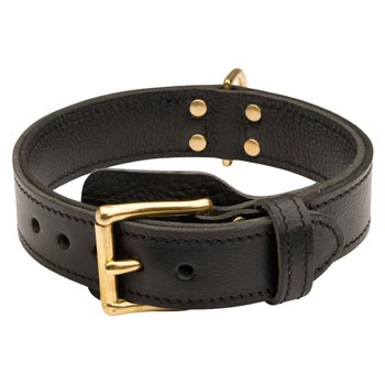 Collie  Leather Collar with Easy in Use Buckle