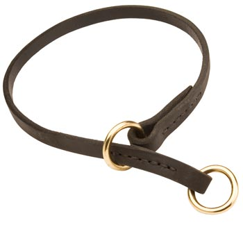 Collie Obedience Training Choke  Leather Dog Collar