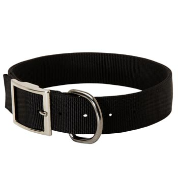 Nylon Collie Collar with Adjustable Steel Nickel Plated Buckle