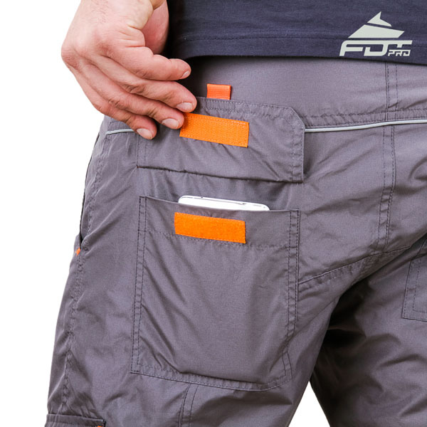 Comfortable Design Pro Pants with Durable Side Pockets for Dog Training