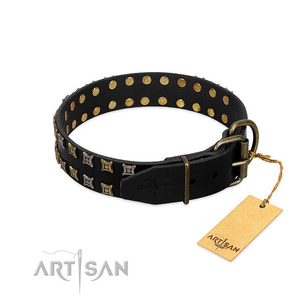 Best quality full grain genuine leather dog collar handmade for your canine