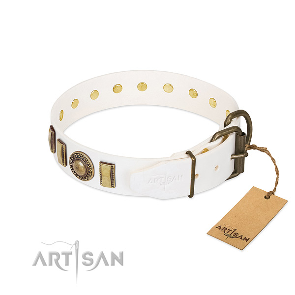 High quality leather dog collar handcrafted for your canine