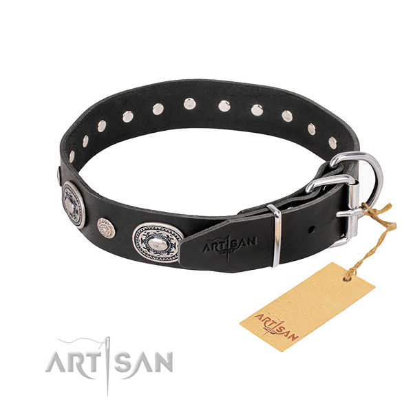 Best quality leather dog collar crafted for easy wearing
