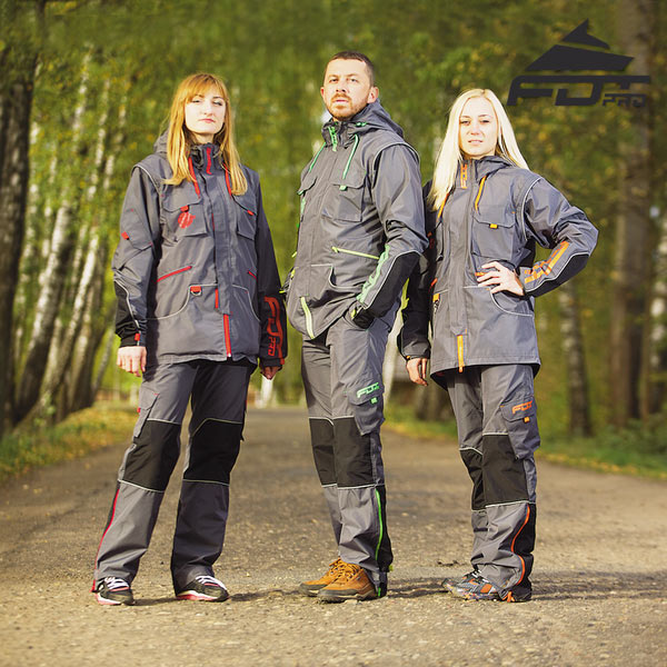 Top Notch Dog Trainer Suit for All Weather Conditions with Reflective Strap