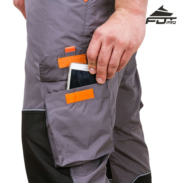 Pro Design Dog Tracking Pants with Durable Velcro Side Pocket
