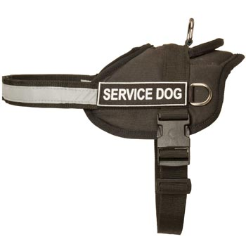 Collie Harness Nylon with Reflective Strap