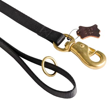 Collie Nylon Leash with Brass O-ring and Snap Hook