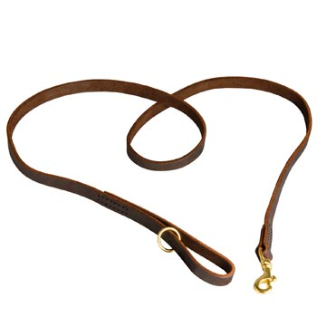 Durable Leather Collie Leash