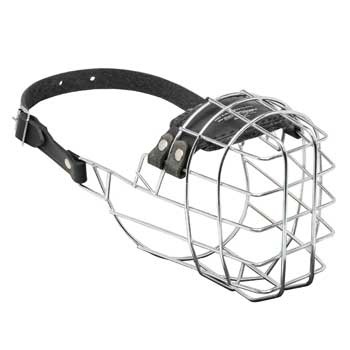 Wire Cage Collie Muzzle for Barking and Drinking