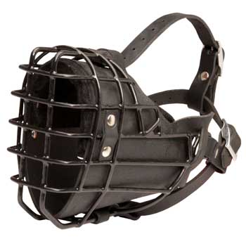 Winter Fully Wire Collie Padded Muzzle Cage